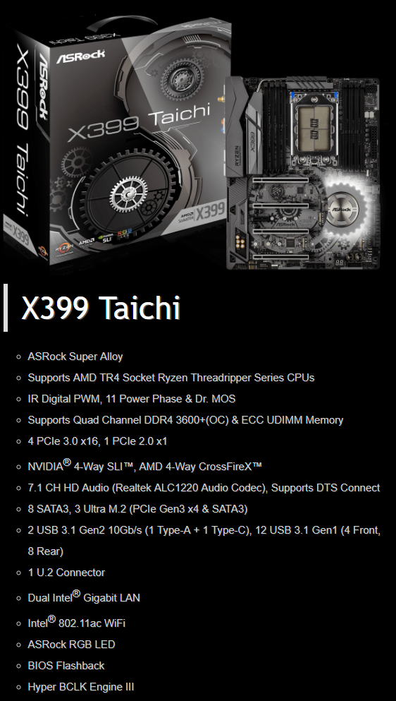 ASRock X399 Taichi review | Techtesters