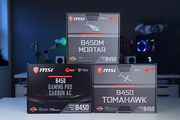 MSI B450 Tomahawk, Gaming Pro Carbon & B450M Mortar   Techtesters